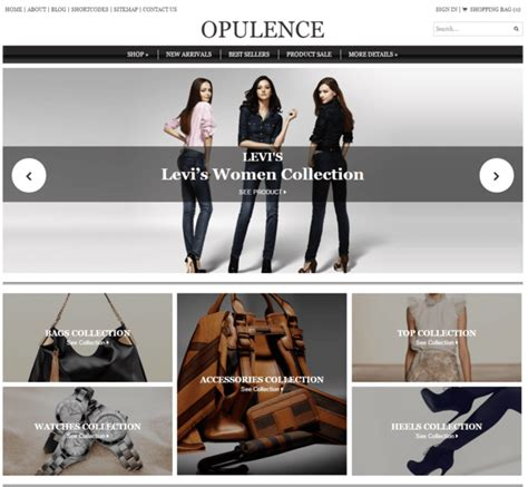 Opulence Store 10 Best Fashion Store Themes Inkthemes
