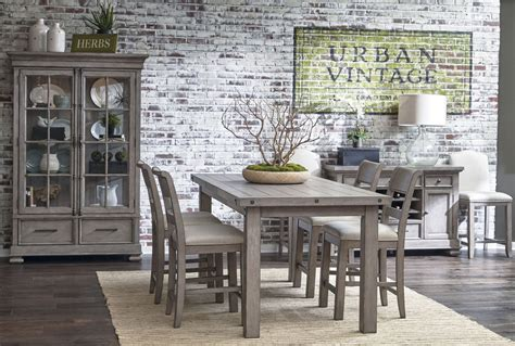 prospect hill dining table prospect hill gray rectangular counter height dining table