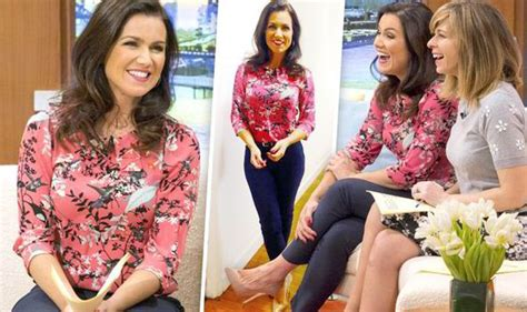 Blouse Gmb susanna brightens up the gmb sofa in a pretty pink blouse news showbiz tv