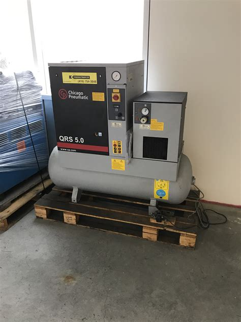 7 5 hp chicago qrs rotary air compressor with dryer steel marketplace