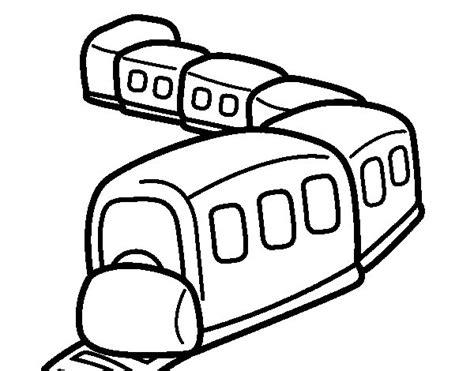 imagenes para colorear un tren dibujo de tren en camino para colorear dibujos net