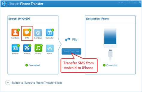 transfer photos from iphone to android how to transfer sms messages from android to iphone 5 5s 6 6 plus