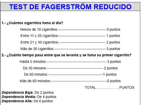 test di fagerstr m test