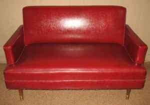 red vinyl couch red vinyl couch