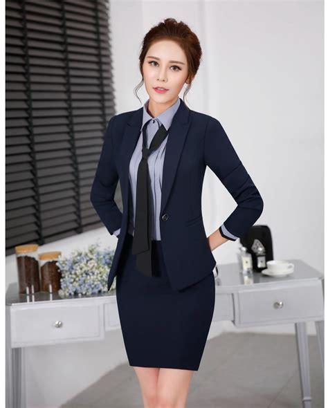 Setelan Blazer Wanita Desain Seragam Kantor Untuk Wanita Promotion Shop For