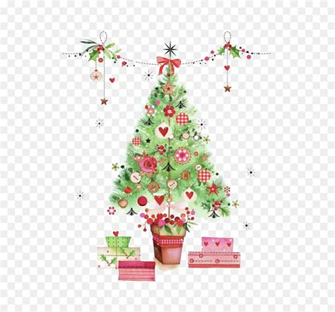 christmas tree watercolor painting designer watercolor christmas tree png