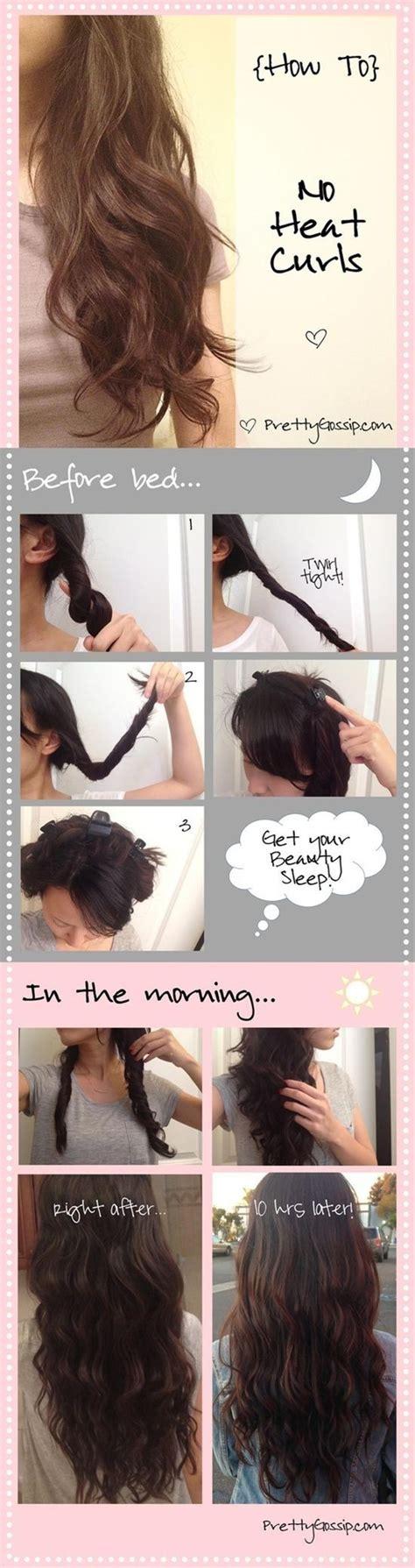 step by step tutorial on seeing curly weave no heat curls 12 ways to get heatless curls