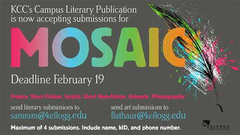 picture book publishers accepting submissions kcc s mosaic literary journal accepting submissions of
