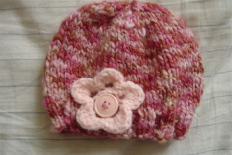 how to knit flower for baby hat free patterns knit baby hat