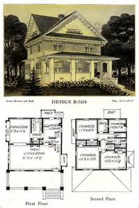 American Foursquare House Plans Artistic Foursquare With Cross Gabled Roof 1918