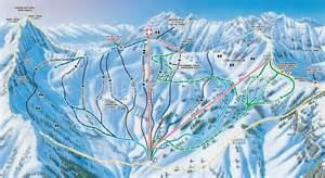 Snowbird Utah Map by Snowbird Ski Resort Map Backside