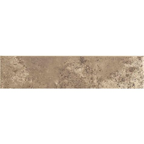 daltile santa barbara pacific sand 3 in x 12 in ceramic bullnose floor and wall tile