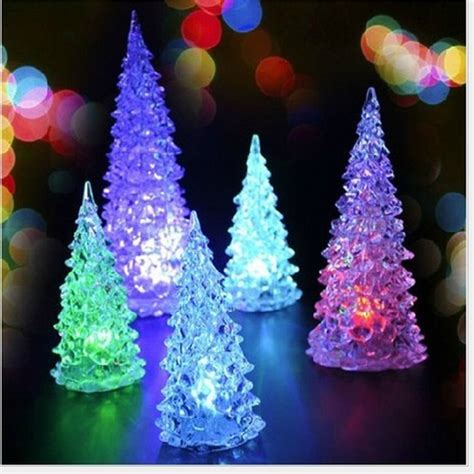 led ornaments tripleclicks mini led lighted tree indoor