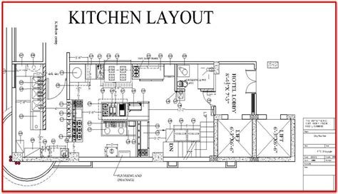 layout of large hotel kitchen restaurant kitchen layout plan architecture pinterest