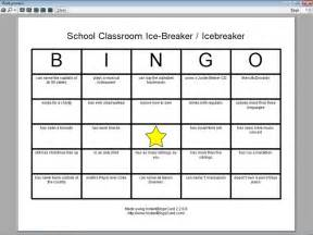 Breaker Bingo Template by Icebreaker Bingo Template For School Pictures To Pin On
