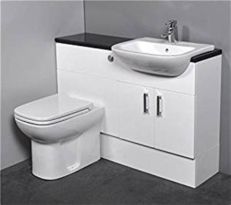 Gloss White Bathroom Furniture Gloss White Fitted Bathroom Furniture 1100mm With Basin Sink And Toilet Co Uk Kitchen