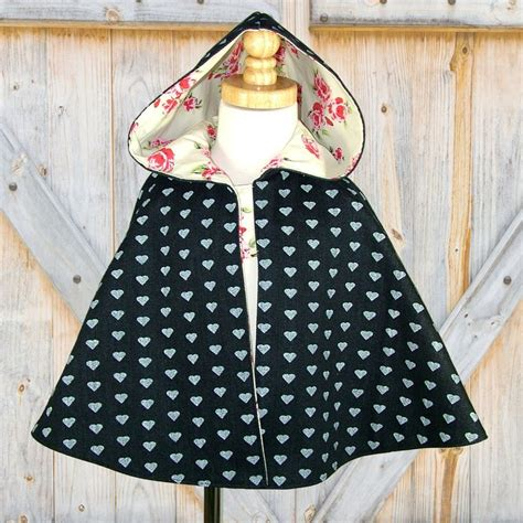 sewing pattern hooded cape girls cape pdf sewing pattern cape pattern girls