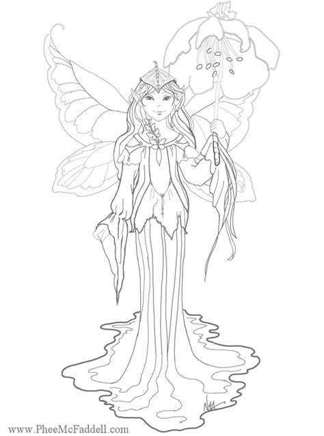 coloring pages fairies and flowers free fairys and pixies coloring pages