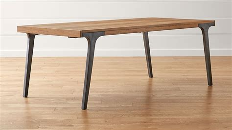 recycled wood dining table lakin recycled teak extendable dining table crate and barrel