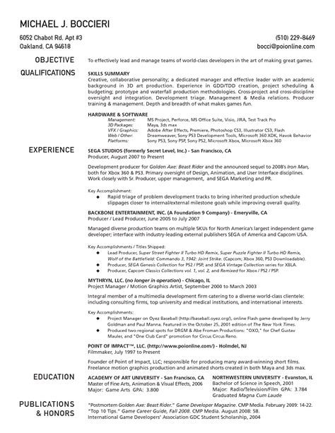 1 page resume exles one page resume template e commercewordpress