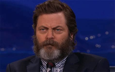 Middle Finger Meme Gif - nick offerman smile gif find share on giphy