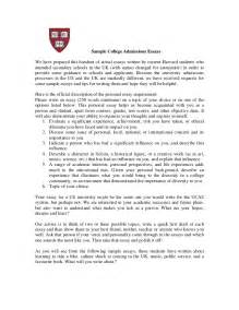 College Admissions Essay Samples Real Harvard Essays