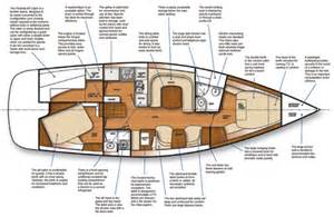 sailboat floor plans c445 floorplan boats 445