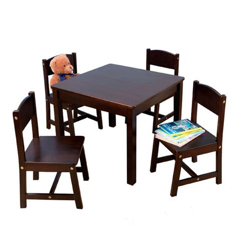 table and 4 chairs activity set wooden furniture