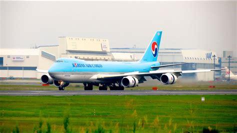 korean air cargo 747 8f landing tokyo narita int l