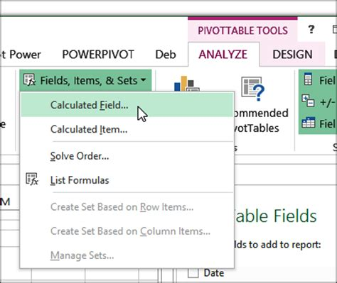 Pivot Table Calculated Item by Excel 2013 Pivot Table Calculated Field Disabled Excel