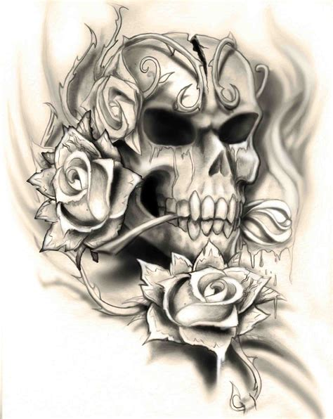 how to tattoo a rose the images collection of skulls school skull