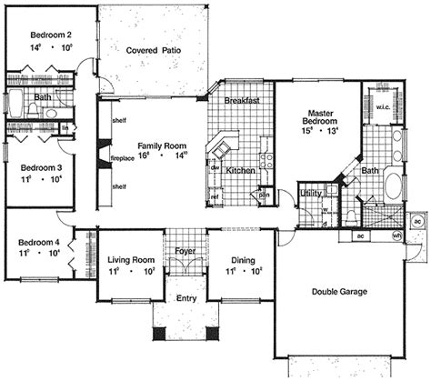 perfect floor plans perfect family house plan 63170hd 1st floor master