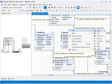 database table diagram tool sql manager tool sql server ide for developers