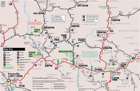 map of oregon day day fossil beds national monument oregon national