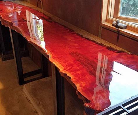 crystal clear bar table top epoxy resin coating  wood