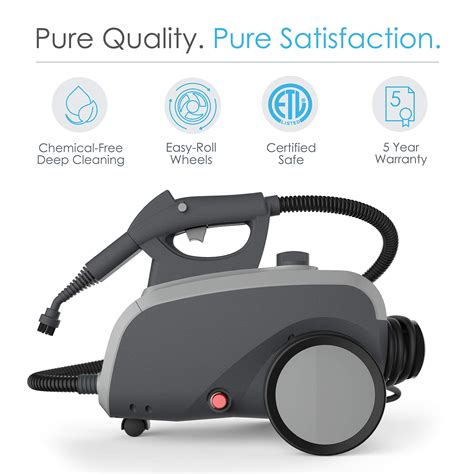pure enrichment pureclean xl rolling steam cleaner  watt multi purpose household steam
