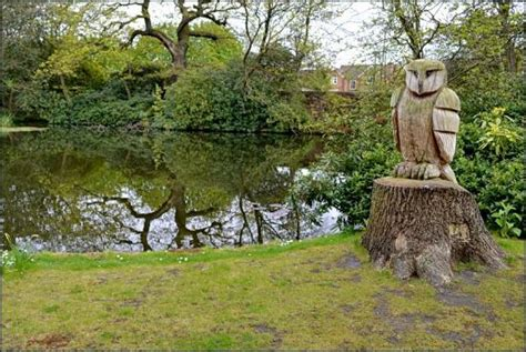grappenhall walled garden wood carving picture of grappenhall heys walled garden