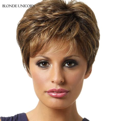 human hair wigs for white women blonde unicorn layered wigs short human hair wigs for