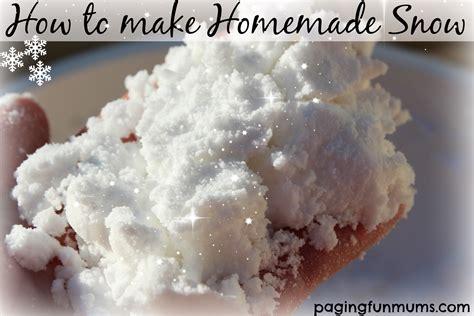 how to make a home how to make snow