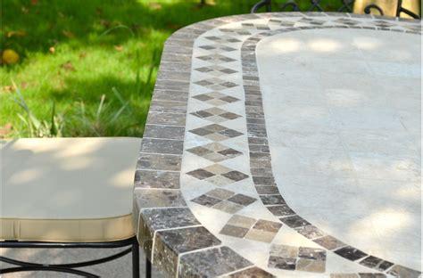 table de jardin mosaique table rabattable cuisine table de jardin mosaique rectangulaire
