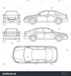 Rental Car Return Form Car Line Draw Insurance Rent Damage Stock Vector 309121718