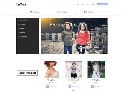 wordpress shop layout 17 best free ecommerce wordpress themes 2018