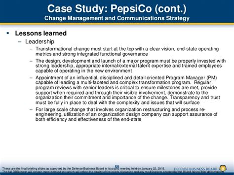 Pepsico Leadership Development Program Mba by Transforming Dod S Business Process For Revolutionary