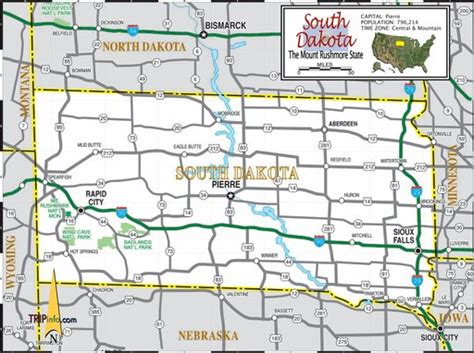 south dakota highway map south dakota highway map maplets