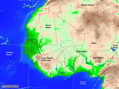 map of west africa physical map of west africa map of africa