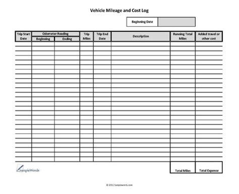 sample mileage reimbursement form 11 examples in word