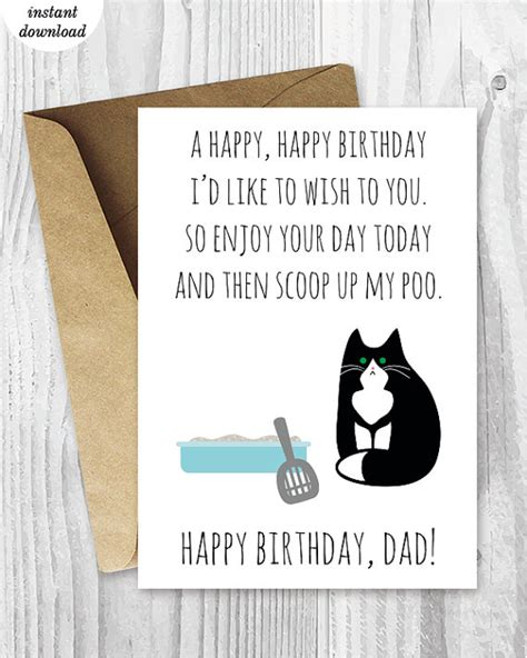printable birthday cards with cats printable funny birthday cards black and white cat cards