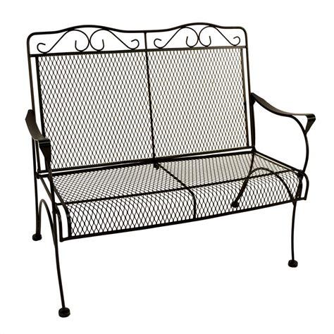 nantucket bench hton bay nantucket metal outdoor bench 6992000 0105157