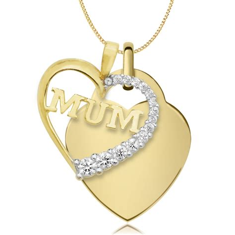 necklace personalised 9ct gold yellow