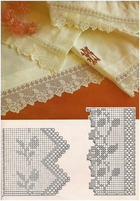 pinterest filet crochet blouses beautiful filet crochet lace edging with roses design and